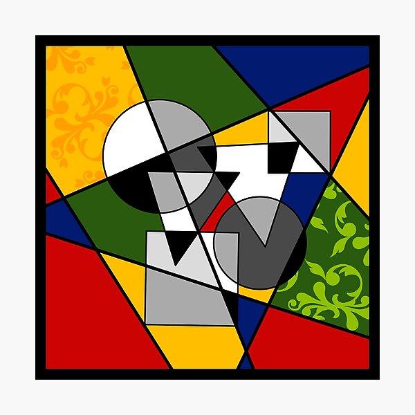 Colourful Geometric Design  Photographic Print