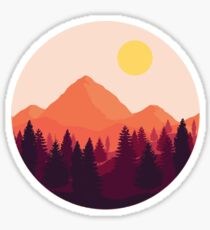 Forest Mountain Horizon Sticker