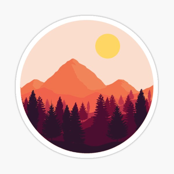 Horizon de la forêt Sticker