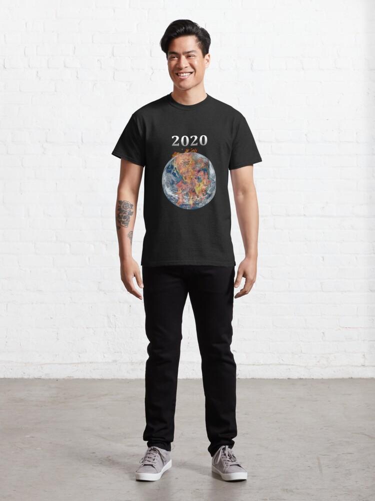 Alternate view of Year 2020 Pandemic World Burn Classic T-Shirt