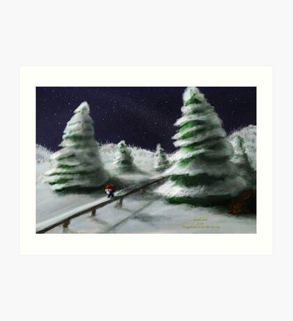 Tomte & Friends Winter Night Art Print