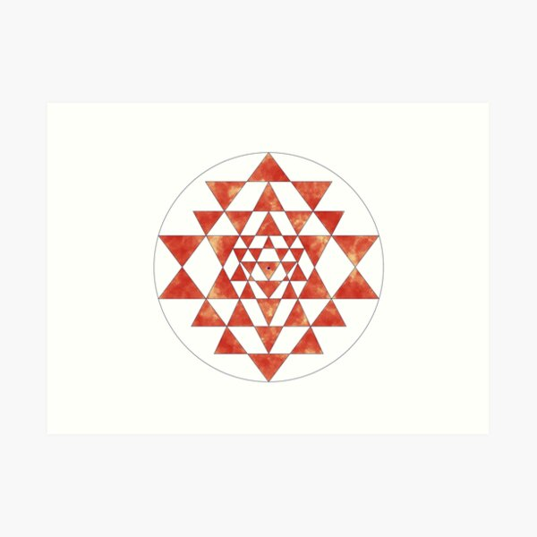 Sri Yantra 11 Art Print