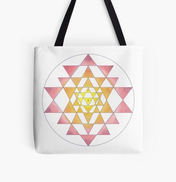 Sri Yantra 09 All Over Print Tote Bag