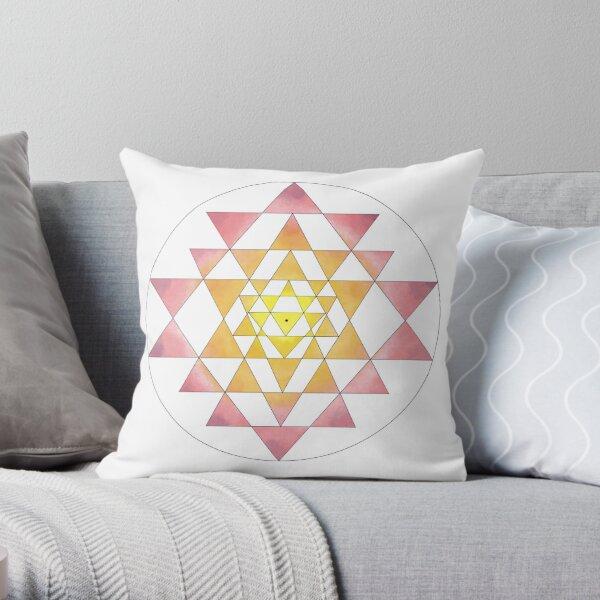 Sri Yantra 09 Throw Pillow