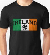 Camiseta ajustada Bandera IRLANDESA vintage (diseño angustiado)