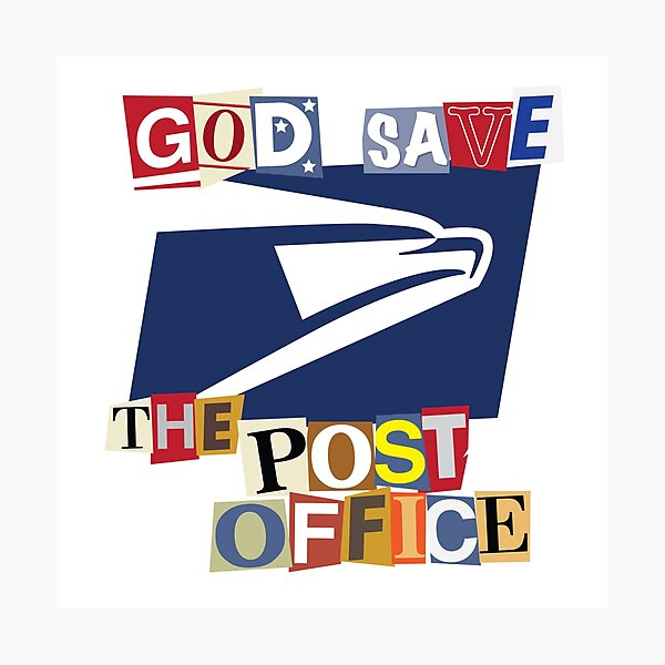 God Save The Post Office Photographic Print