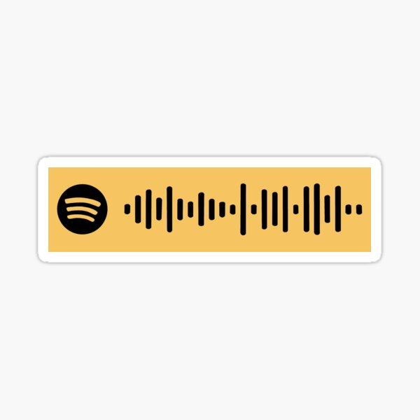 Somebody To Love Queen Spotify Scan Code Sticker