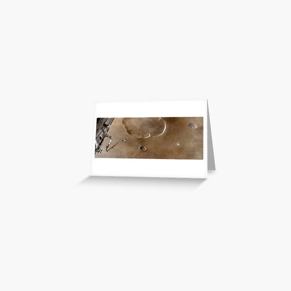 Olympus Mons From Orbit Greeting Card