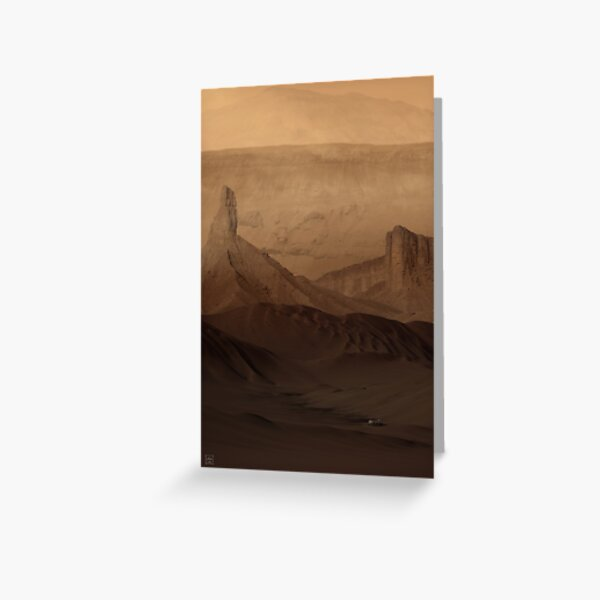 Down in Noctis Labyrinthus Greeting Card