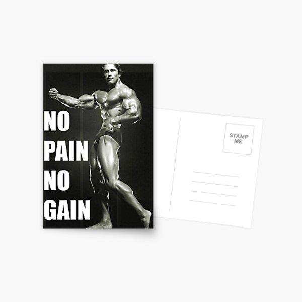 Arnold Schwarzenegger No Pain No Gain! Postcard
