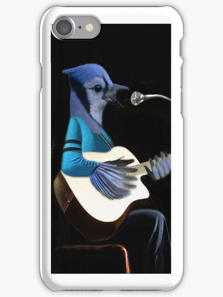 •♪♫•*¨*•BLUE JAY PLAYING GUITAR IPHONE CASE•♪♫•*¨*• by ✿✿ Bonita ✿✿ ђєℓℓσ