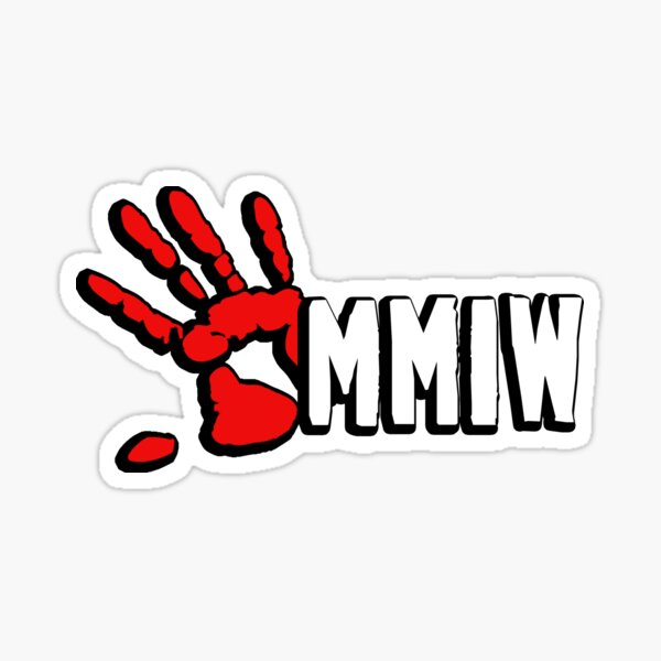 MMIW Red Hand No More Stolen Sisters Native American Women Indigenous People First Nation Protest Art Sticker