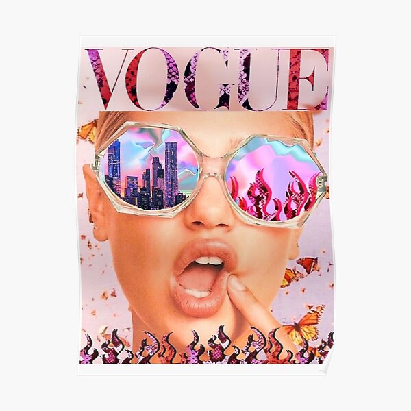 Magazine cover aesthetic  Poster