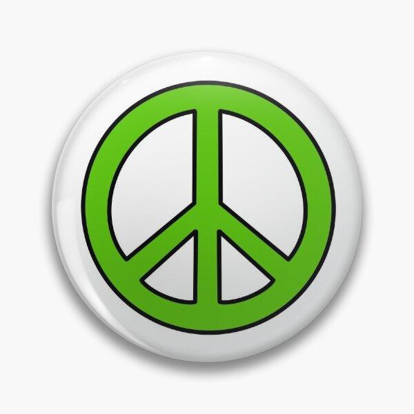 Green Peace Sign Pin