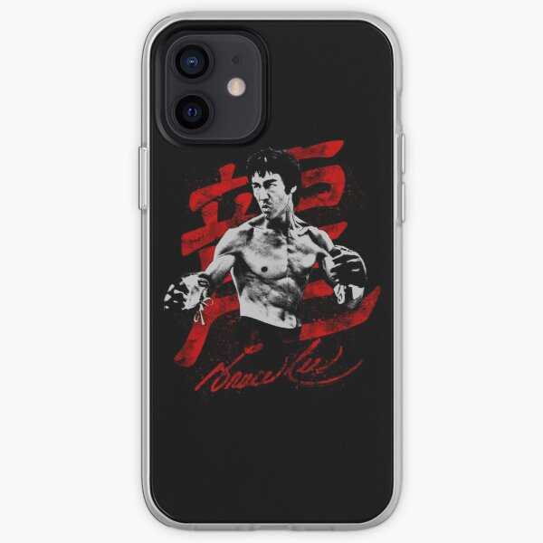 Bruce Lee Fighting Pose iPhone Soft Case