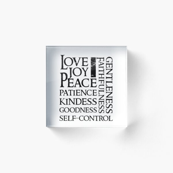 The Fruit of the Spirit - Christian Bible Verse Acrylic Block