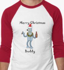 Christmas Robot Baseball ¾ Sleeve T-Shirt
