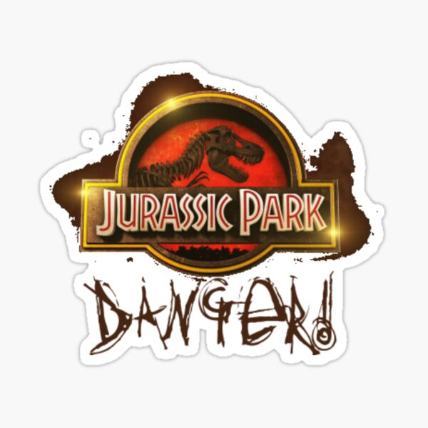 Jurassic Park Danger World Dinosaur Sticker