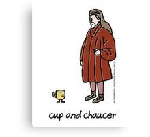 cup and chaucer Canvas Print