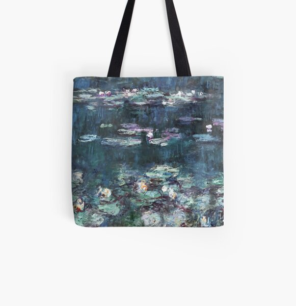 The Water Lilies - Green Reflections by Claude Monet All Over Print Tote Bag
