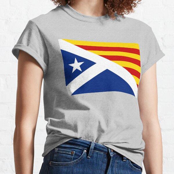 Combined Scottish and Catalan Estelada Flag, Estelada Blava, Independence Classic T-Shirt