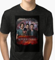 Supernatural Family dont end with blood 3  Tri-blend T-Shirt