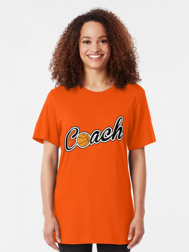 Alternate view of Basketball Coach Slim Fit T-Shirt