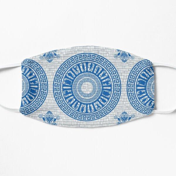 Greek Gods Pattern (blue version) Flat Mask