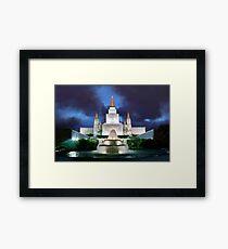 Oakland Temple Blue Sunset 20x30 Framed Print