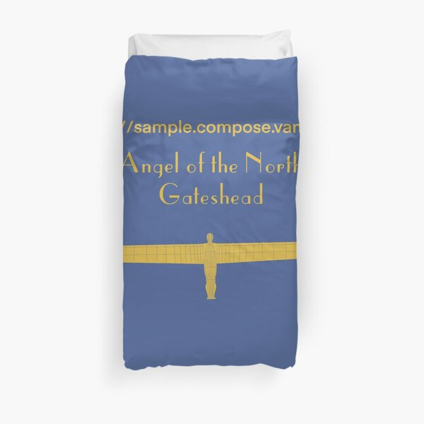 Angel of the North Duvet Cover