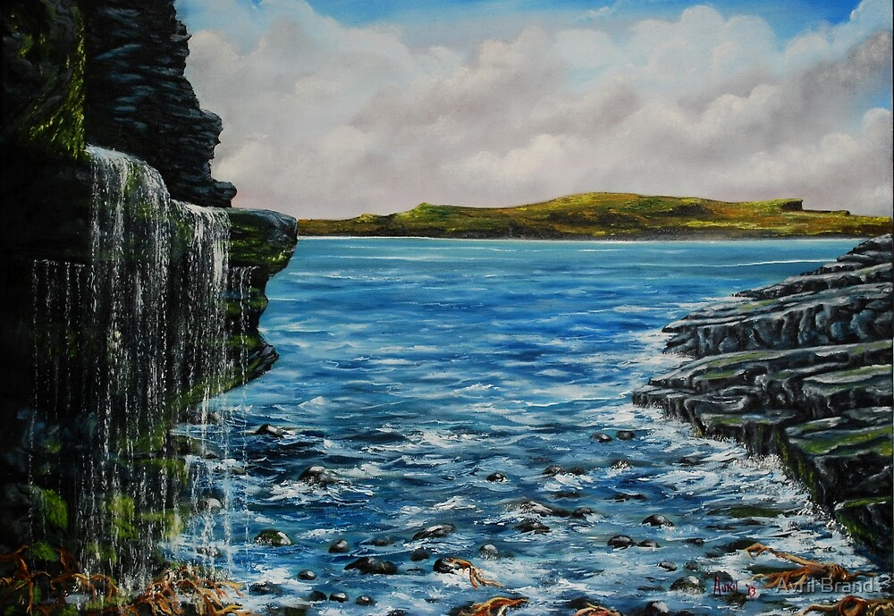 View of Kilkee from George's Head - oil painting by Avril Brand