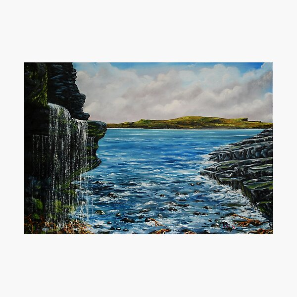 View of Kilkee from George's Head - oil painting Photographic Print
