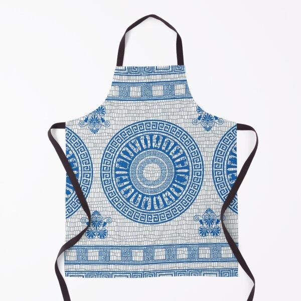 Greek Gods Pattern (blue version) Apron