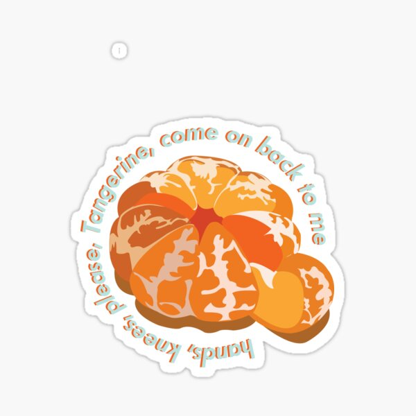 Tangerine, come on back to me  Sticker