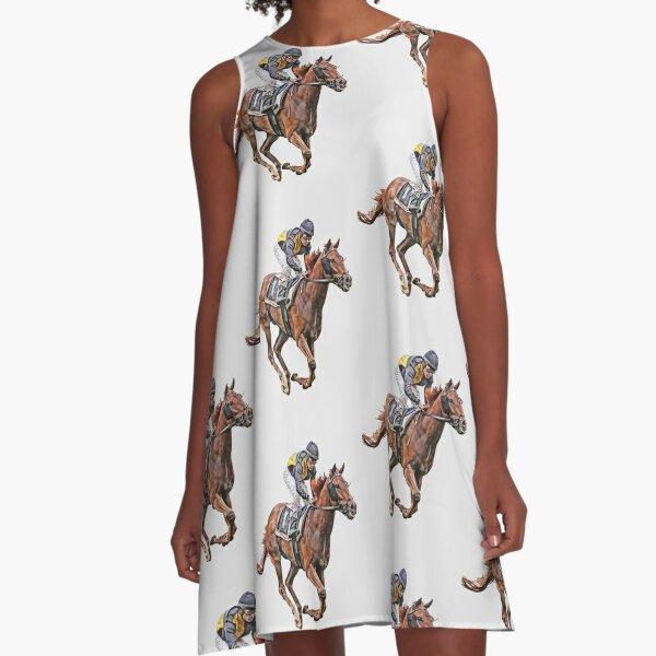 Horse Racing A-Line Dress
