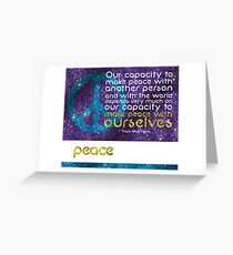 Peace Inspirational Artwork Greeting Card