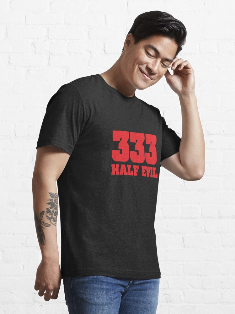Alternate view of 333 Half Evil Essential T-Shirt