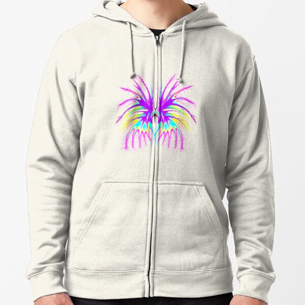 Dragon Butterfly in purple Zipped Hoodie