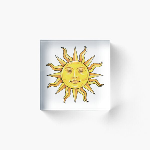 A golden sun in splendour Acrylic Block