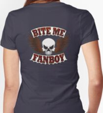 Bite Me Fanboy - Lobo Women's Fitted V-Neck T-Shirt