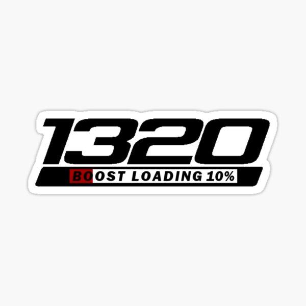 1320 Drag Racing Glänzender Sticker