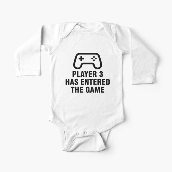 Player 3 has entered the game Long Sleeve Baby One-Piece