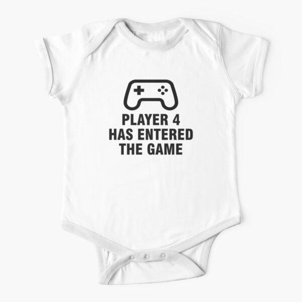 Player 4 Has Entered The Game Short Sleeve Baby One-Piece