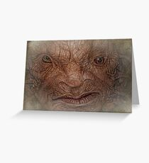 The Face of Boe  Greeting Card