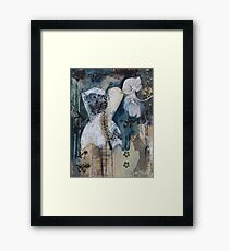 Black And White Corset Framed Print