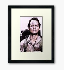 Peter Venkman from Ghostbusters Framed Print