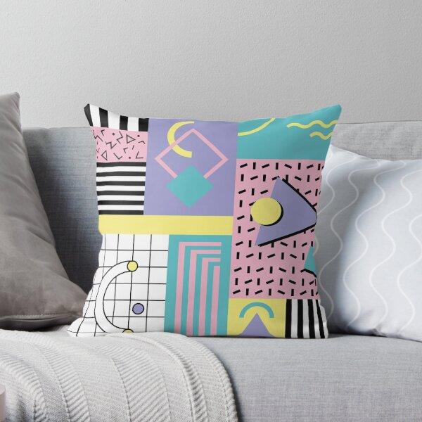 Memphis Pattern 25 - Retro 90s / 80s Throw Pillow