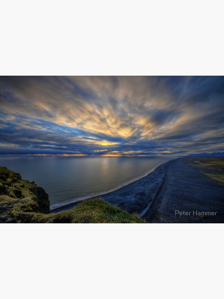 Sunset over Dyrholaey by PeterH