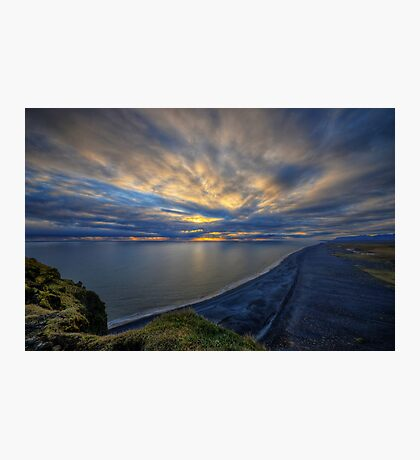 Sunset over Dyrholaey Photographic Print