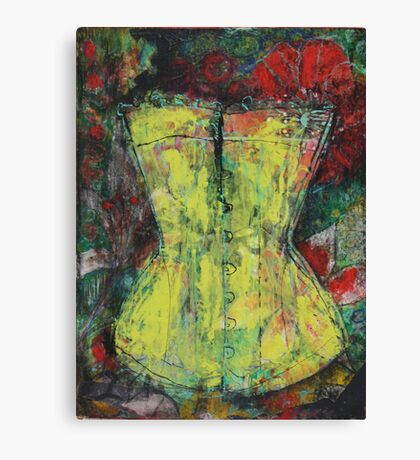 Yellow Corset Canvas Print